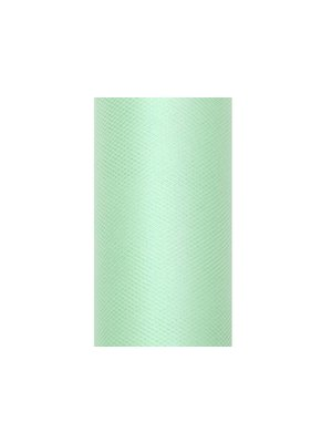 Luxe tule pastel groen op rol