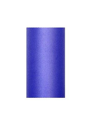 Luxe tule blauw op rol