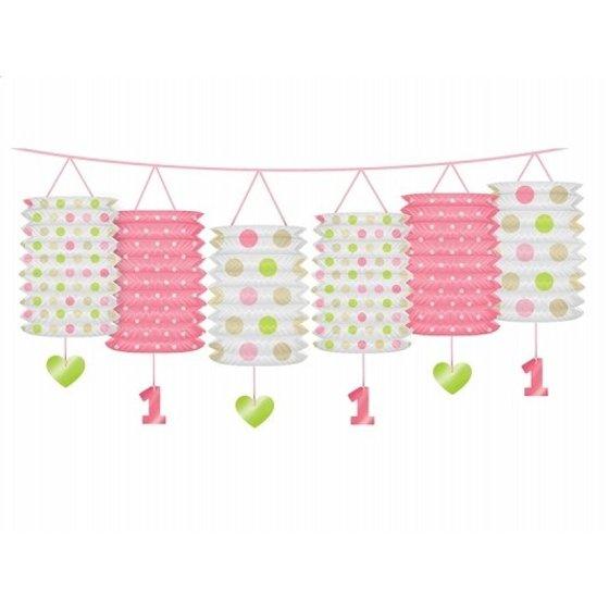 Eerste verjaardag lieveheersbeestje roze/limegroen