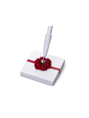 Luxe pennenstandaard rode rozen