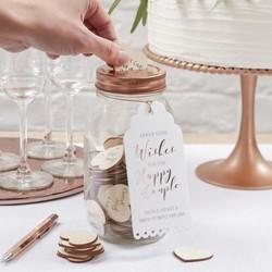 Alternatief gastenboek bruiloft: Wishing Jar met hartjes