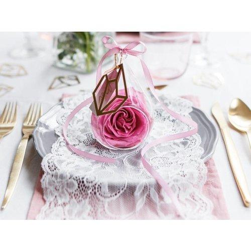 Bruiloft decoratie kant op rol (model 1)