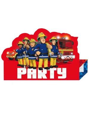 Uitnodigingen, brandweerman Sam  8x (nieuwe uitgave)