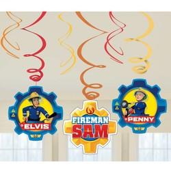 Brandweerman Sam versiering,  hang slingers 6x