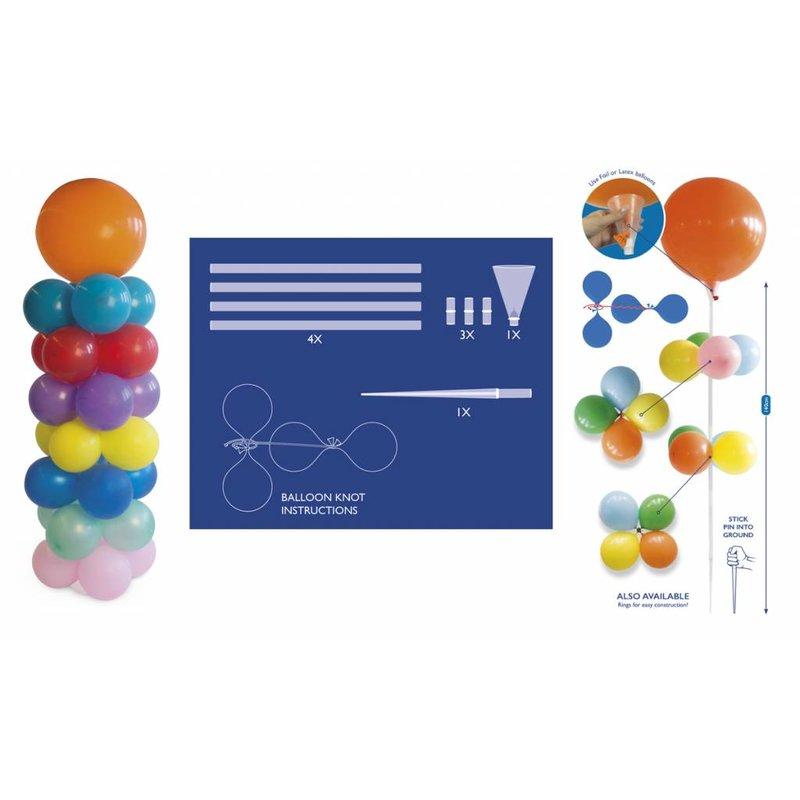 Ballonnen pilaar set, doe het zelf pakket met pin voor in de grond