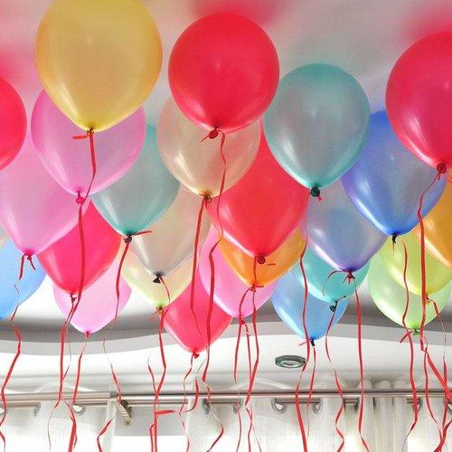 Helium gevulde metallic latex ballon
