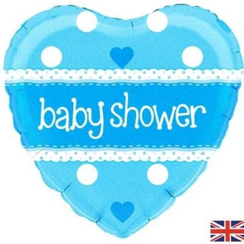 babyshower versiering folie ballon blauw
