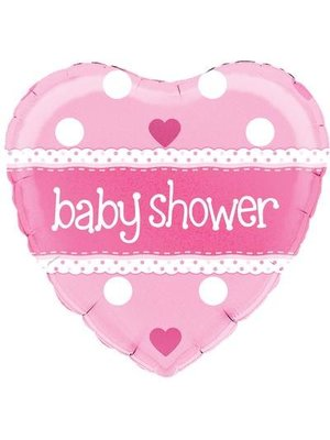 babyshower versiering folie ballon roze