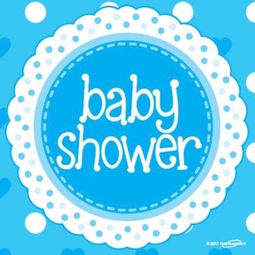 babyshower versiering servetten blauw