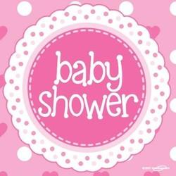 babyshower versiering servetten roze