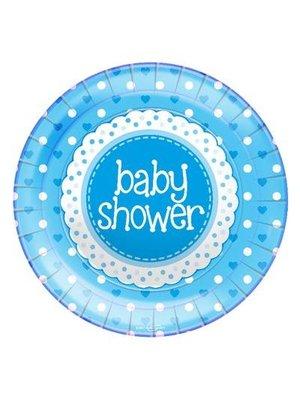 babyshower versiering borden blauw