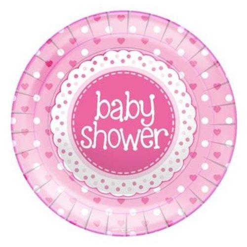 babyshower versiering borden roze