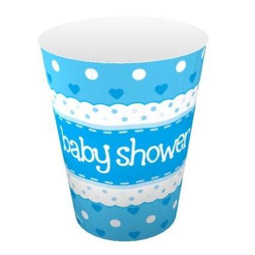 babyshower versiering bekers blauw