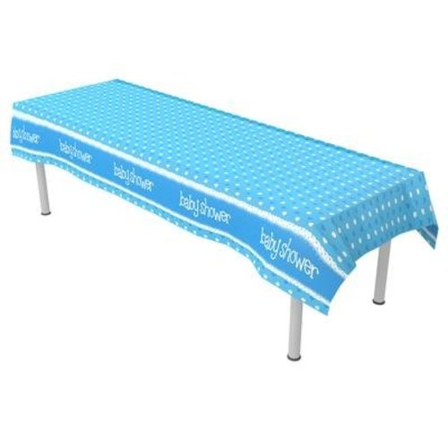 babyshower versiering tafelkleed blauw