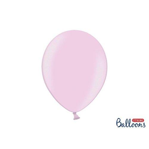 Premium ballonnen 30 cm in mat, metallic en cristal. Baby roze