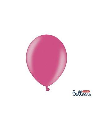 Premium ballonnen 30cm in mat, metallic en cristal. hard roze