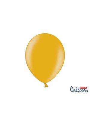 Premium ballonnen 30cm in mat, metallic en cristal. geel