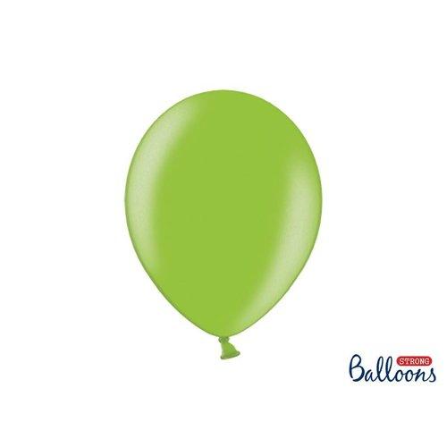 Premium ballonnen 30 cm in mat, metallic en cristal. Groen