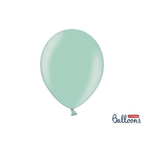 Premium ballonnen 30cm in mat, metallic en cristal. licht blauw