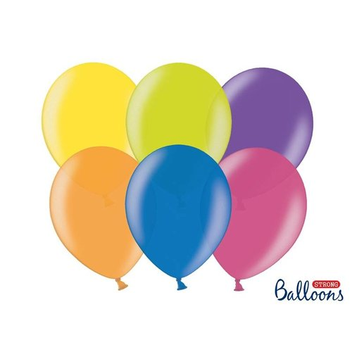 Premium ballonnen 30cm in mat, metallic en cristal. gekleurd