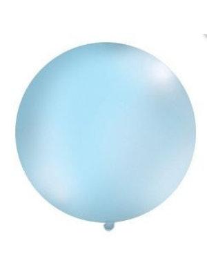 Mega top ballon 1m. ( 1 stuks) licht blauw
