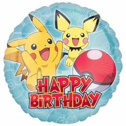 pokemon feestartikelen folie ballon happy birthday  (n)