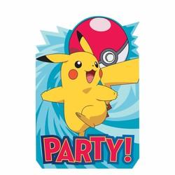 Pokemon feestartikelen uitnodigingen (N)