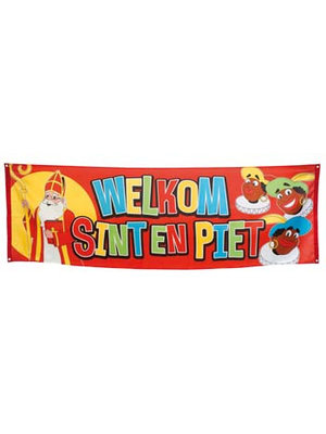"""Spandoek """"welkom Sint en Piet"""""""