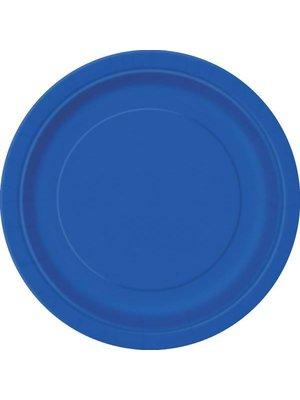 Gebaksbordje 18 cm 20 stuks blauw
