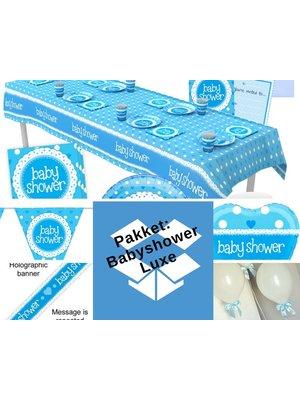 babyshower versiering jongen pakket blauw - pakket 5