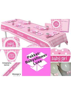 Babyshower versiering meisje -  roze / hartjes - pakket 6