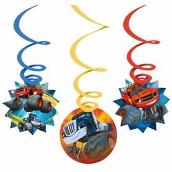 Blaze en de monster wielen  feestartikelen hangdecoratie 6 stuks