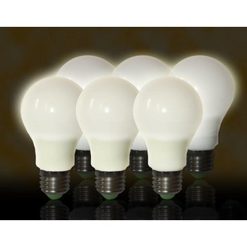 Quintezz E27 7W LED dimmable 6-pack