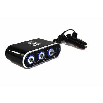 3-fach Steckdose mit USB