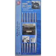 6 chrome grill strips