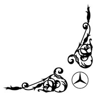 Floral sticker Mercedes L+R