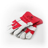 Handschoen rundsplitleder