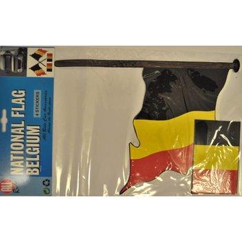 Vlaggenset België 4delig