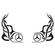 Window tribal Mercedes 2 pcs