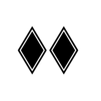Aufkleber Rhombus 2 St.