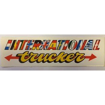 Aufkleber International Trucker