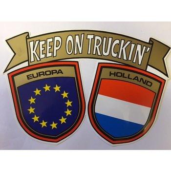 Sticker Europa - Holland