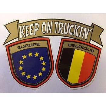 Aufkleber Europa - Belgique