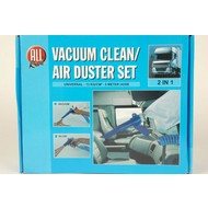 Vacuum clean / air duster set 2-in-1