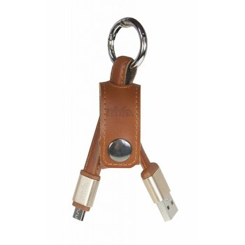 mr Handsfree Leather Charge & Sunc keychain - micro USB