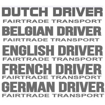 Fairtrade transport sticker 2 stuks