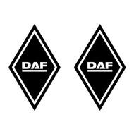 Sticker diamond DAF 2pcs outside