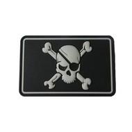 Rubber Patch Pirat Skull Negativ - Nachtleuchtend