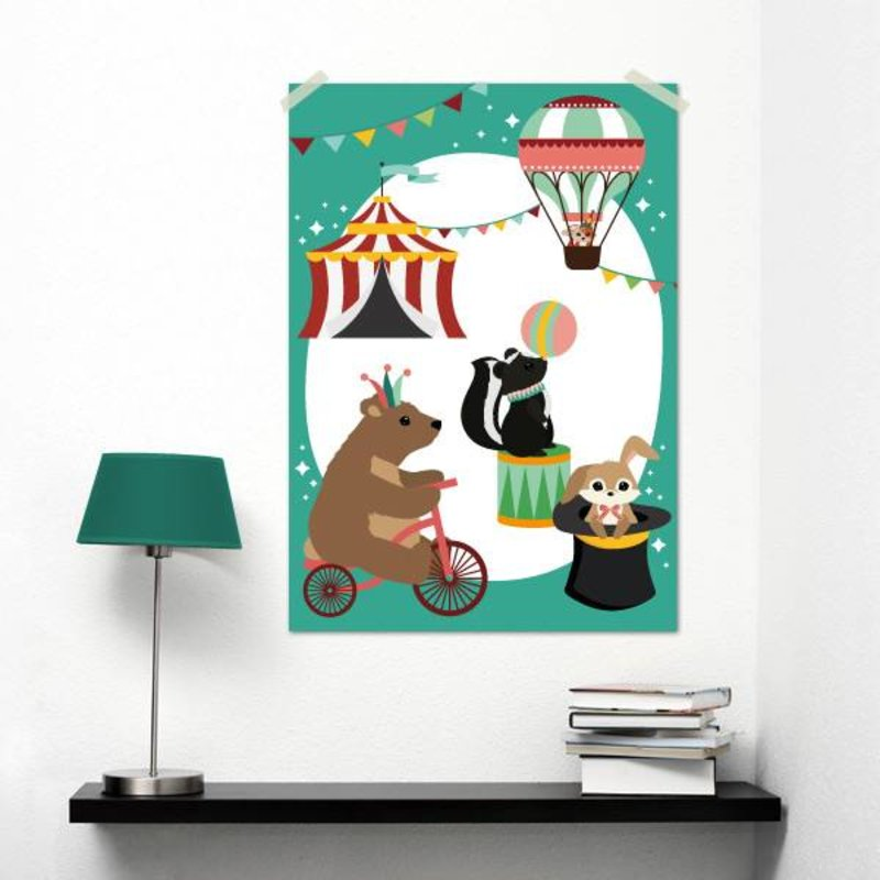 Oktoberdots A3 Poster Woodland Circus