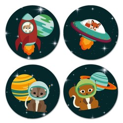 Oktoberdots Set Stickers Woodland Heelal